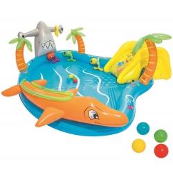 Wodny plac zabaw Morska Przygoda 280 x 257 x 87 zjeżdżalnia piłeczki Bestway 53067