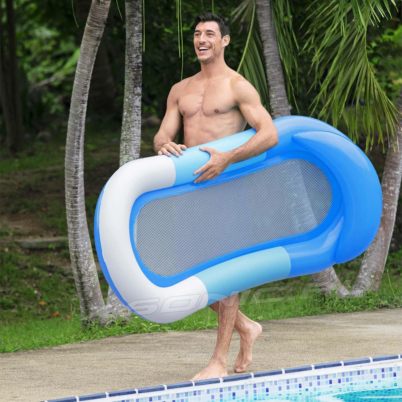 Dmuchany materac plażowy Aqua 160 x 84 cm Bestway z siatką 43300