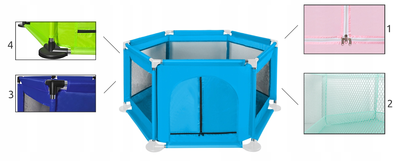 Wielki kojec dla dzieci suchy basen plac zabaw dla dzieci 3w1 z siatką
