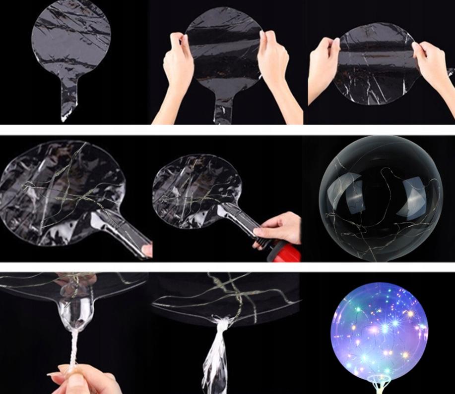 Balon LED świecący kula dmuchany na Hel powietrze na wesele koncerty