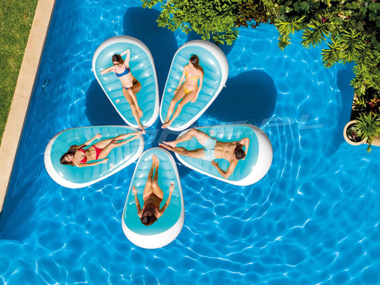 Leżanka do pływania materac dmuchany plażowy 193x124 cm INTEX 56869