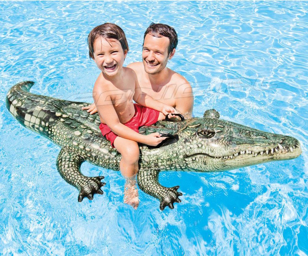 Dmuchany aligator do pływania 170 x 86 cm krokodyl INTEX 57551