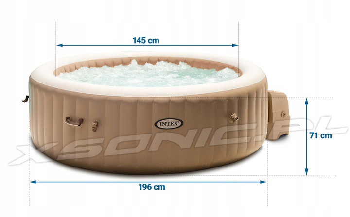 Dmuchane SPA z masażem i podgrzewaczem wody 196 x 71cm INTEX 28476