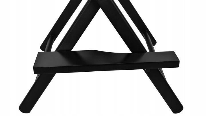 Krzesło do makijażu Make-Up reżyserskie aluminiowe składane hoker z oparciem