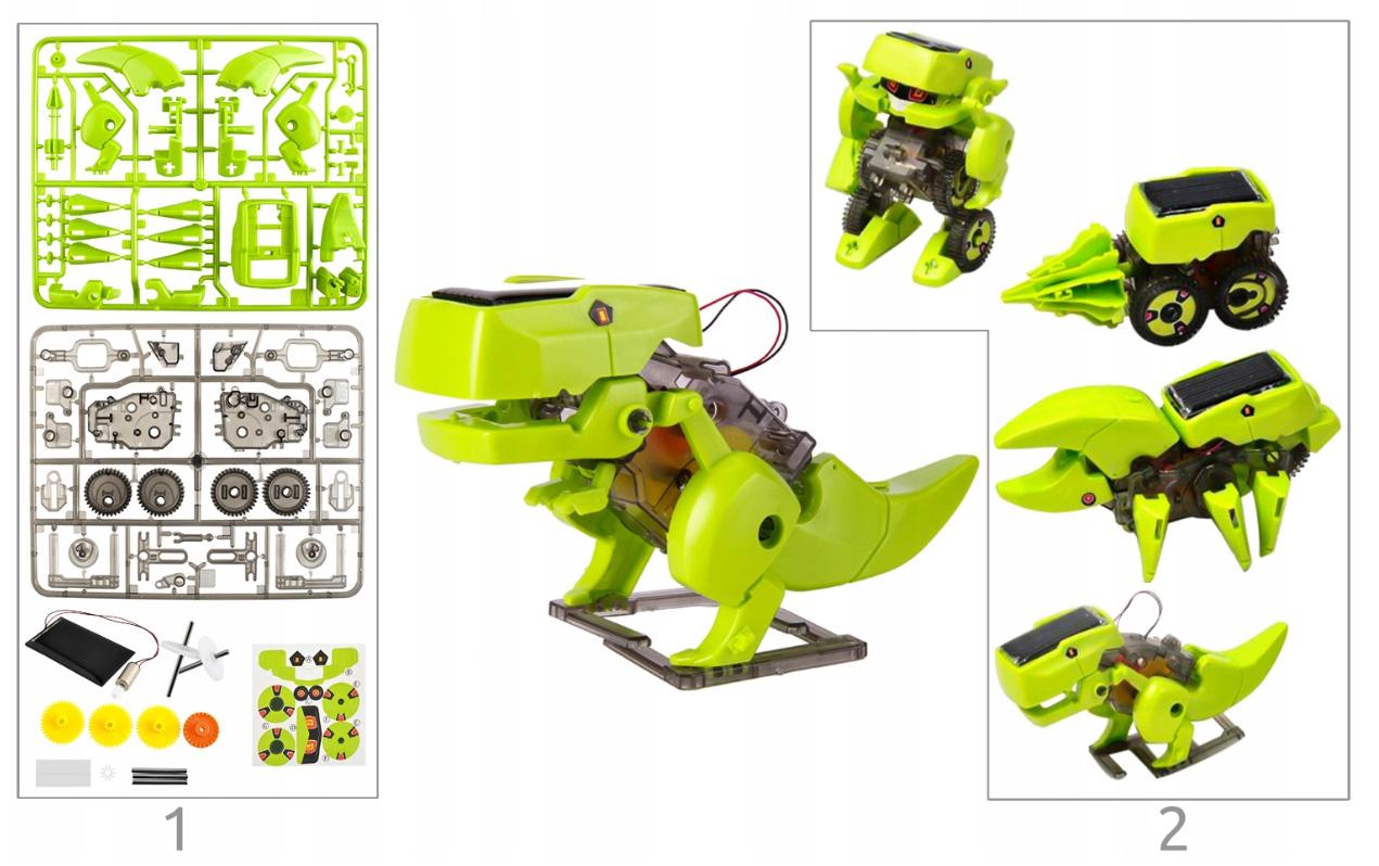 Dinozaur robot solarny zabawka edukacyjna owad 4w1 do zbudowania