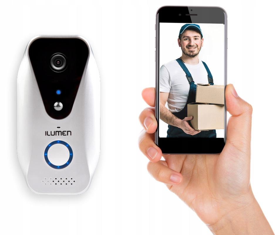 Dzwonek bezprzewodowy kamerka podgląd na smartfon Ilumen WiFi