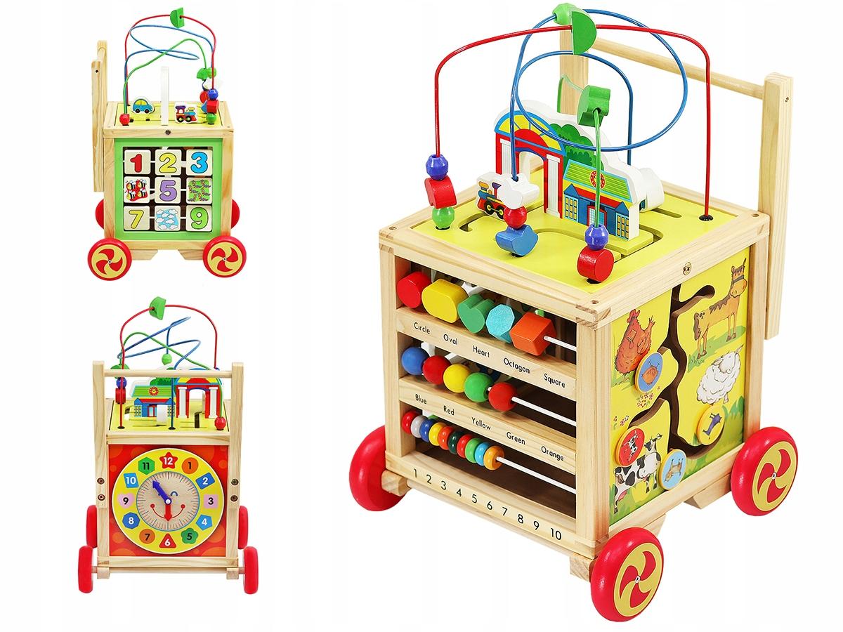 Zabawka dla dzieci wózek kostka sorter pchacz