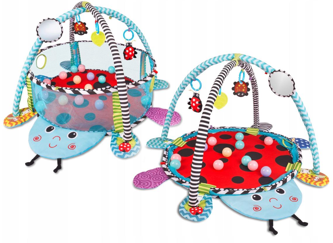 Mata edukacyjna interaktywna dla niemowląt kojec piłeczki Biedronka