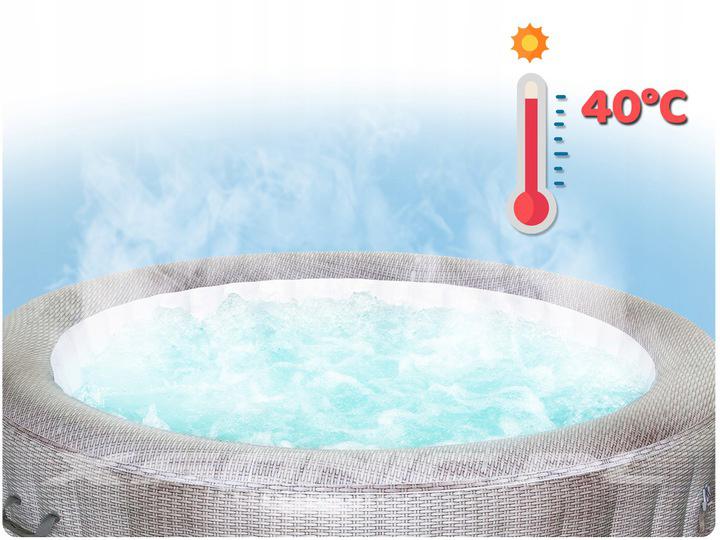 Dmuchane jacuzzi masaż wodny CANCUN 180 x 66 cm Lay-Z Spa Bestway 54286