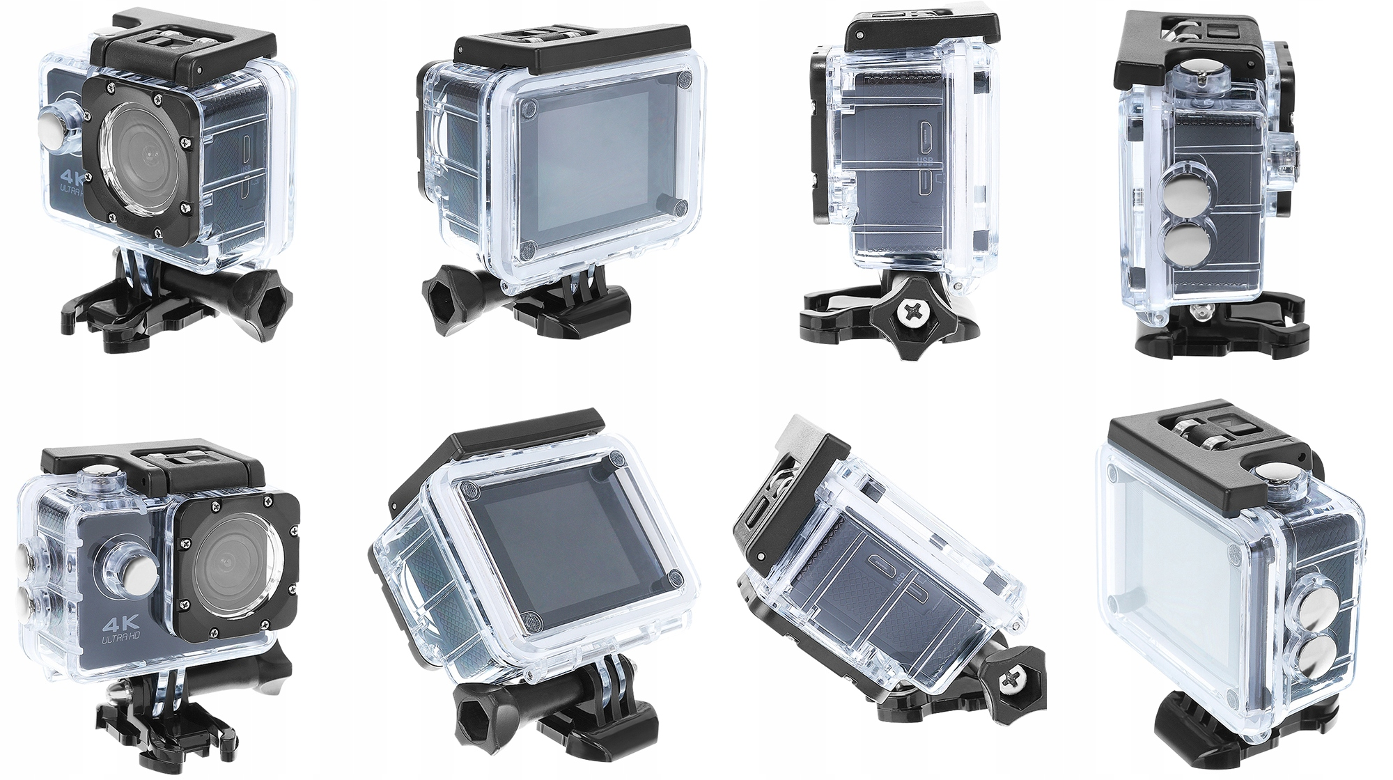 Kamera sportowa 4K WiFi wododporna obudowa różne uchwyty