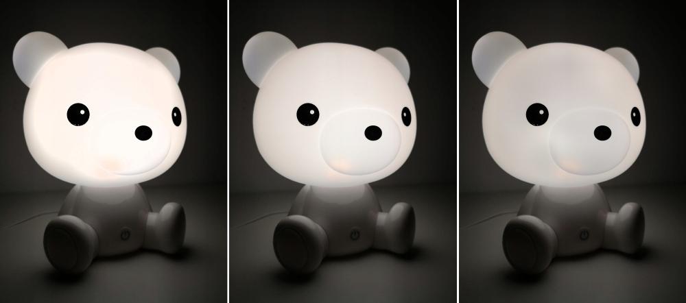 Lampka Nocna dla Dzieci Miś Misiu 25cm 3 Tryby LED