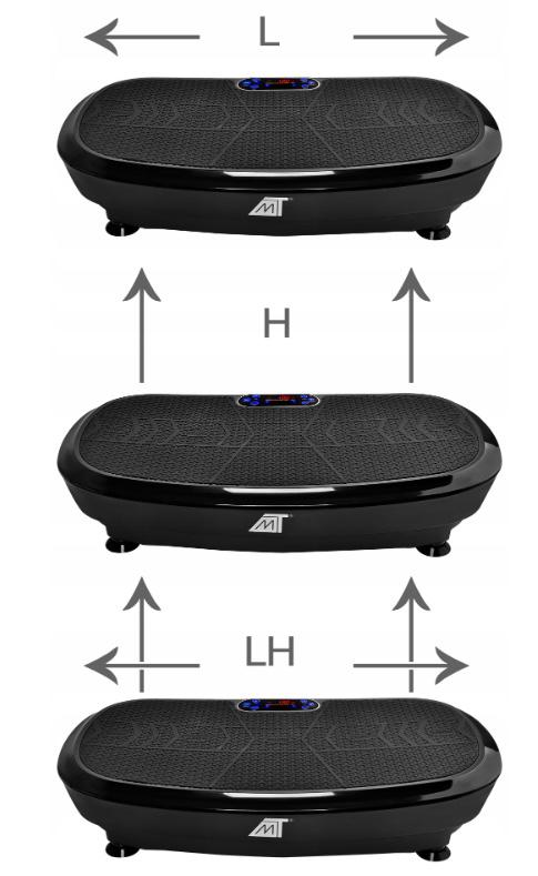 Platforma wibracyjna do ćwiczeń wibrująca masażer z Bluetooth 3D pilot 2x silniki