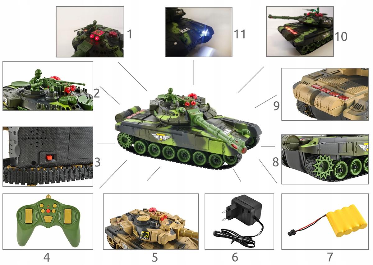 Duży Czołg Zdalnie Sterowany War Tank 9993 Kolory