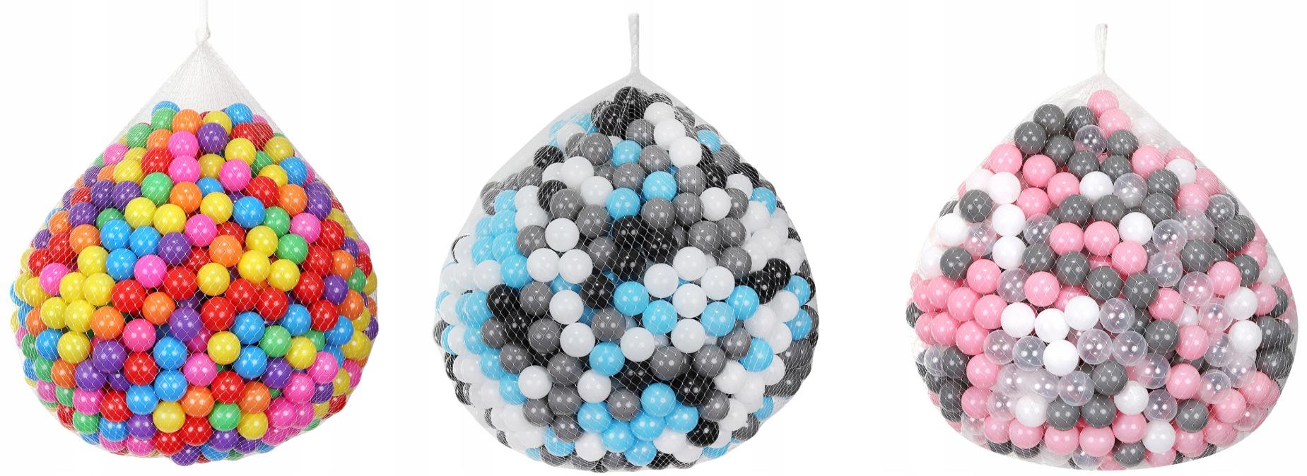 Piłeczki 1000 sztuk piłki do placu zabaw brodzika namiotu suchego basenu