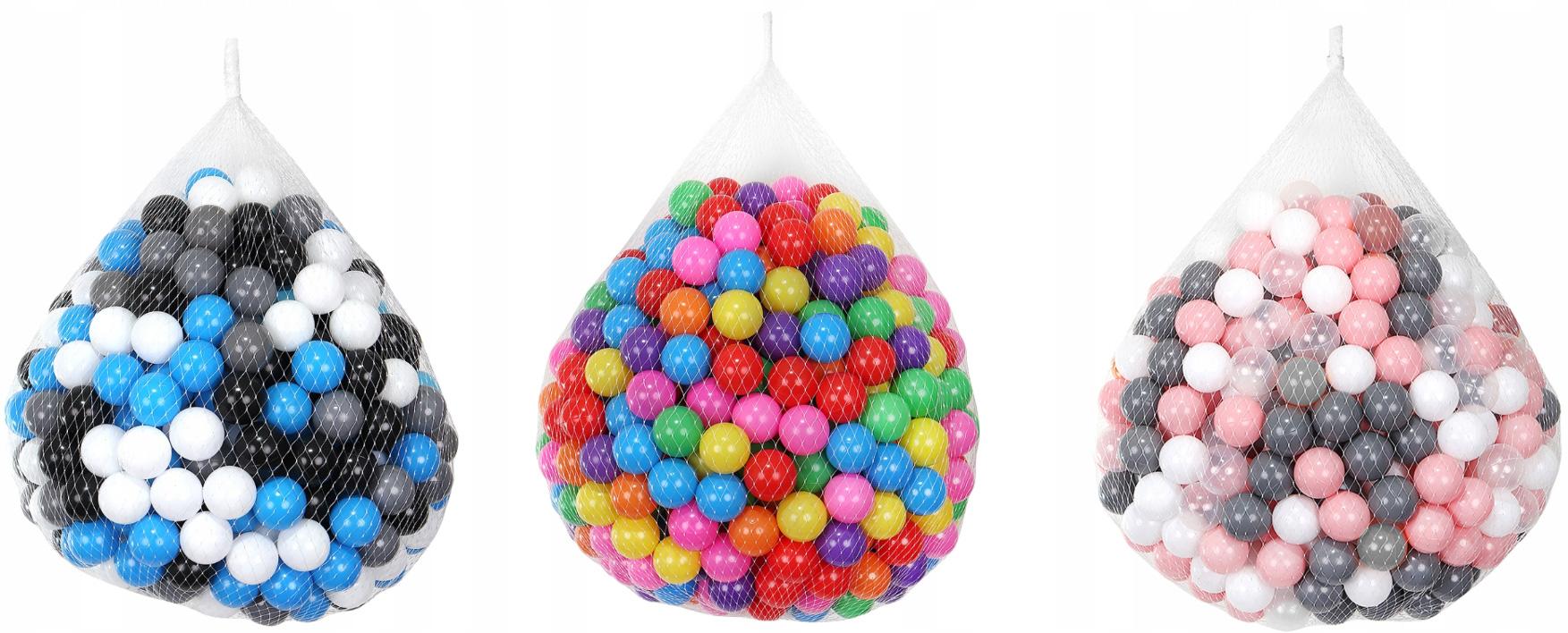 Piłeczki piłki 500 sztuk do placu zabaw brodzika namiotu suchego basenu