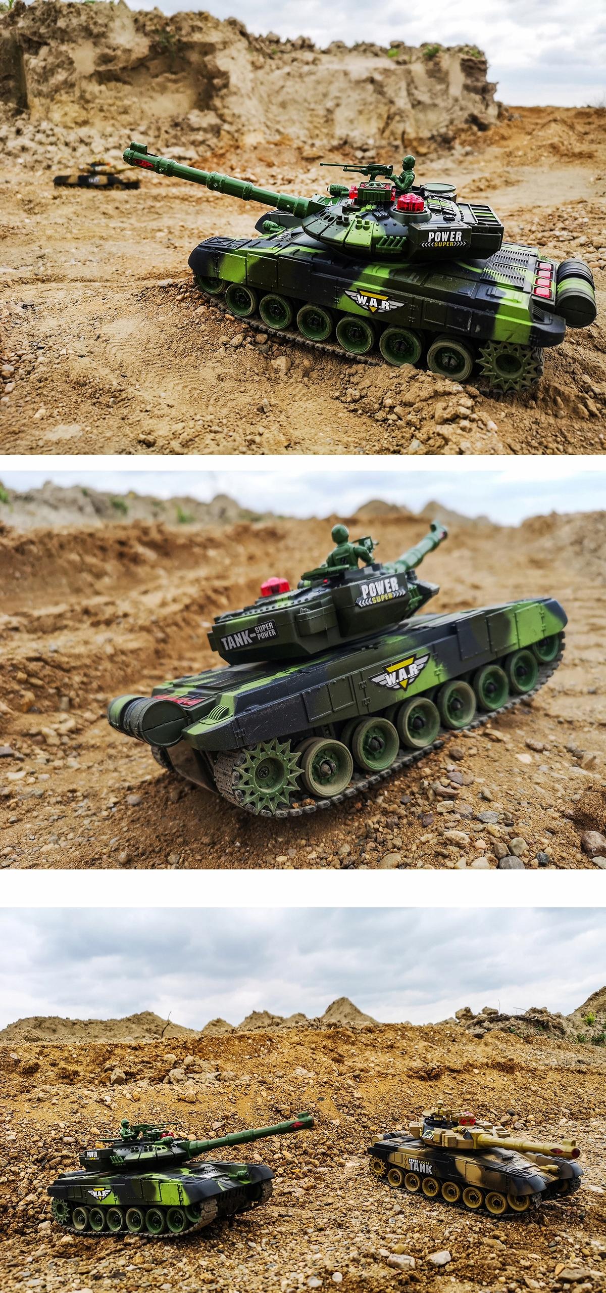 Duży Czołg Zdalnie Sterowany War Tank 9993 Kolory licznik trafień