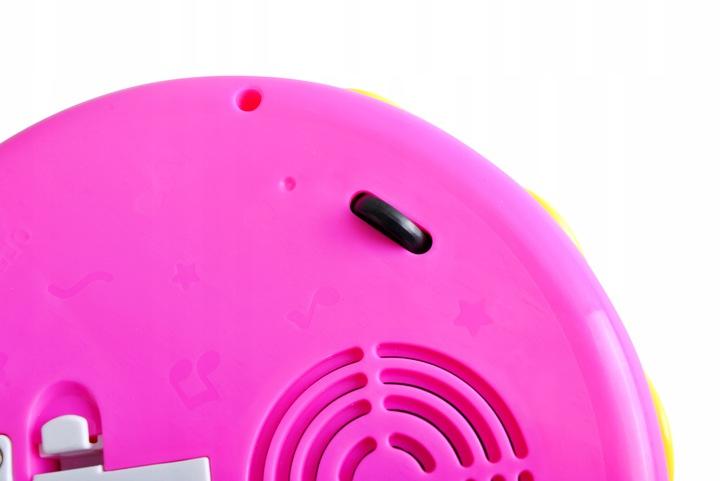 Bębenek grający interaktywny karuzela projektor światło instrument dla najmłodszych