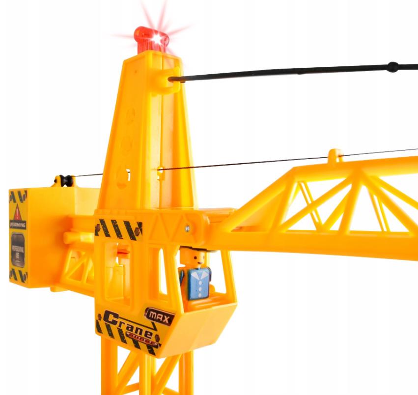 Dźwig sterowany pilotem 65 cm żuraw wysięgnik pilot zabawka
