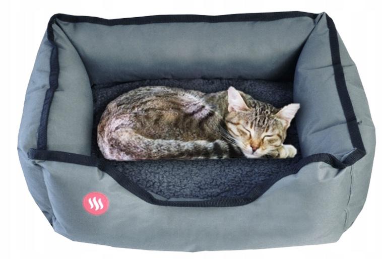 Ogrzewane legowsiko dla psa kota grzejący kojec 60x50 cm GPETH Glovii