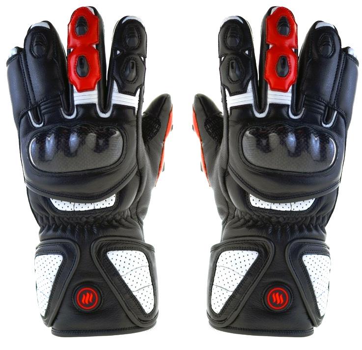 Ogrzewane rękawice na motor motocyklowe GDBL GLOVii z akumulatorem ochraniacz na kostki