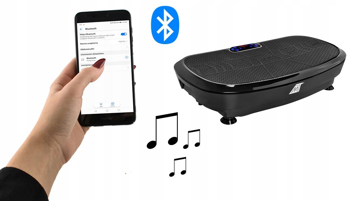 Platforma Wibracyjna Wibrująca Masażer Bluetooth