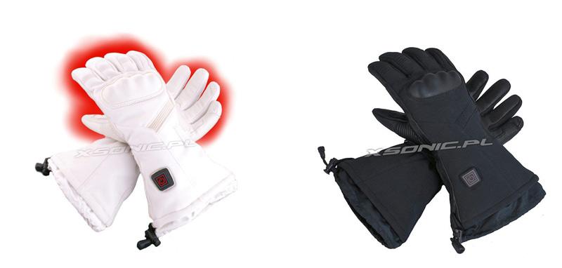Profesjonalne rękawice narciarsie ogrzewane z wbudowanego akumulatora