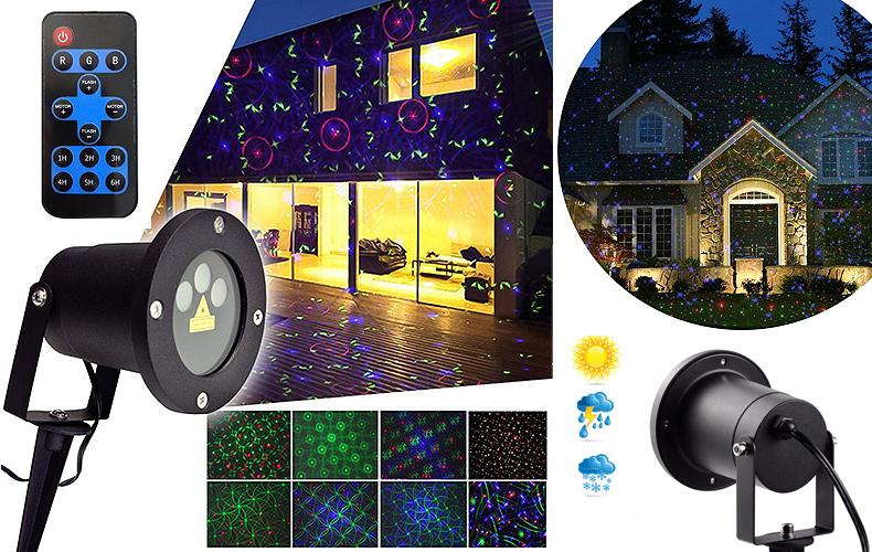 Projektor RGB aż 3 lasery 24 programy świecenia