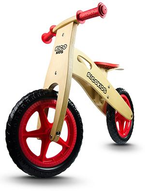 Drewniany rowerek biegowy koła 12 cali