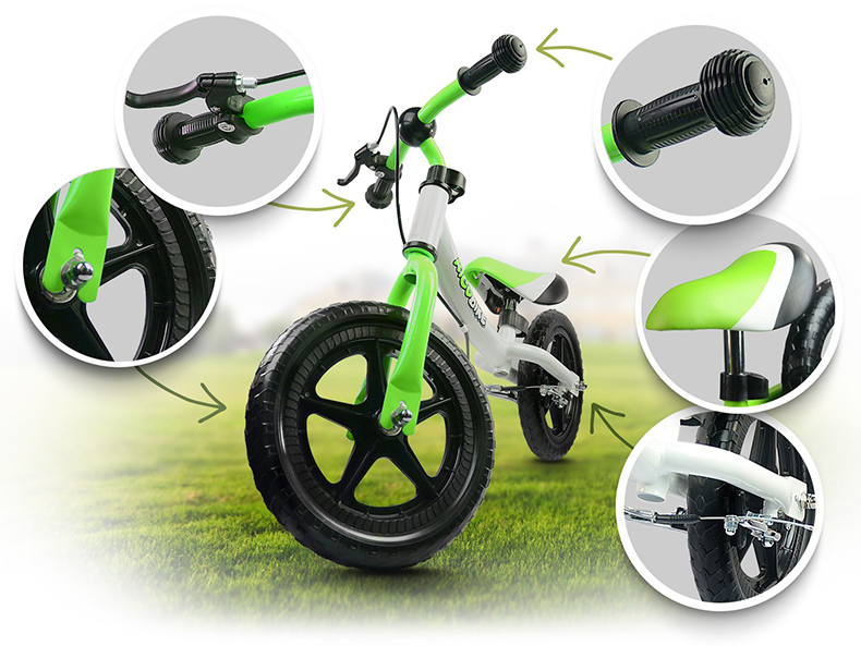Rowerki biegowe dla chłopców i dziewczynek opony piankowe EVA