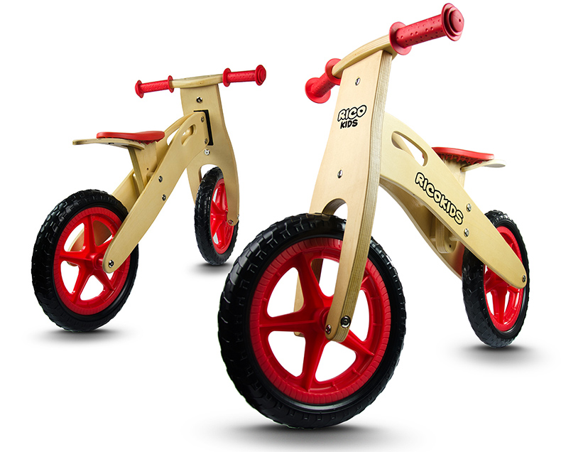 Rowerki biegowe dla chłopców i dziewczynek styl RETRO z drewna