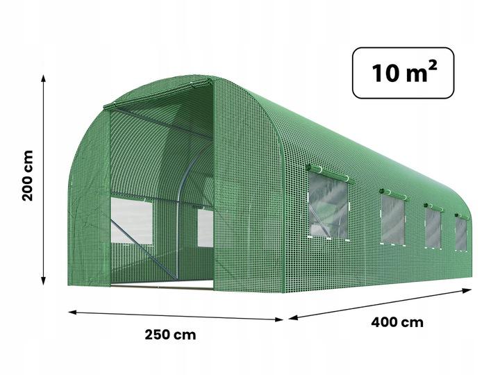 Duża szklarnia ogrodowa 2,5 x 4 xH2m 10m2 tunel foliowy z oknami