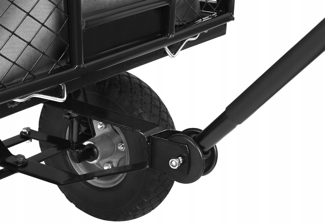Wielozadaniowy wózek z wysokimi burtami i skrętnymi kółkami