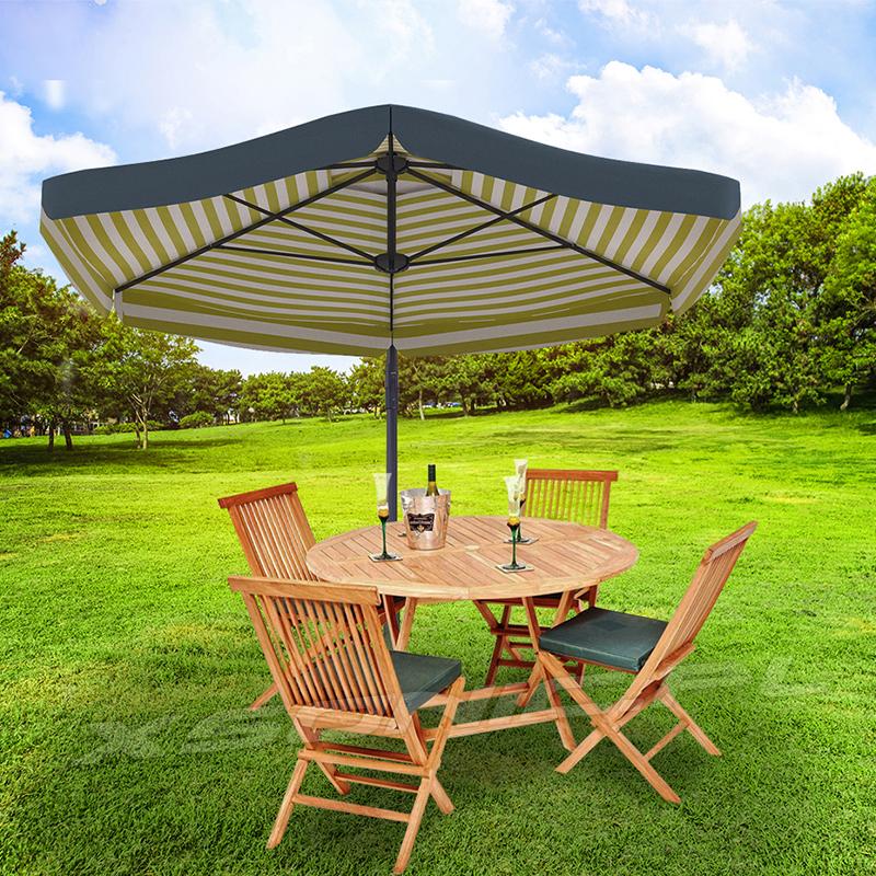 Rozkładany parasol ogrodowy o średnicy 3 metrów na wysięgniku regulowany