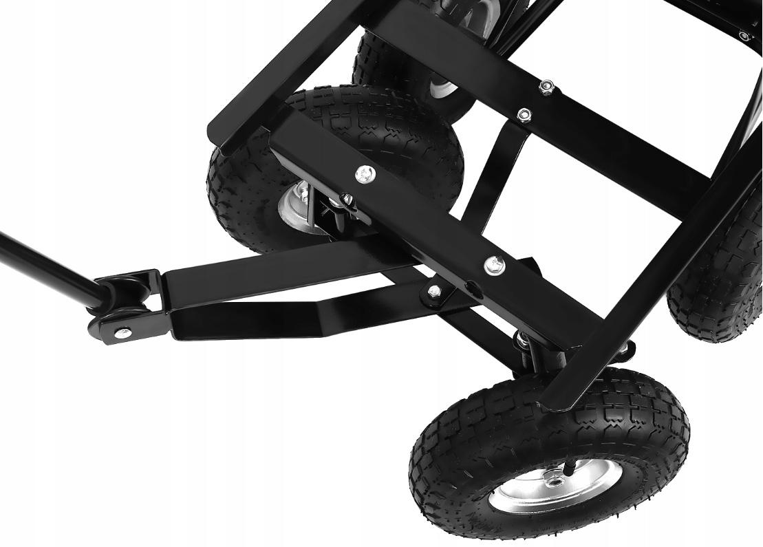 Wygodny w użytkowaniu mocny wózek ogrodowy z dyszlem wywrotka