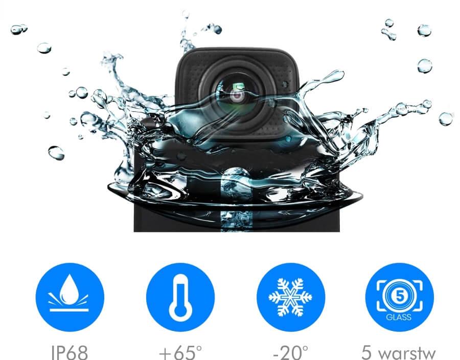 Bezprzewodowa kamera cofania Mistral z monitorem AUTO-VOX TD-2 wodoodporna