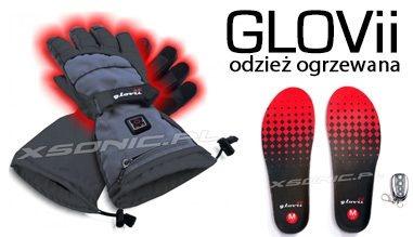 Grzejące wkładki do butów ogrzewane rękawice narciarskie skarpetki czapki ubranie Glovii