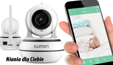 Niania elektroniczna i kamera IP do monitoringu przez WiFi